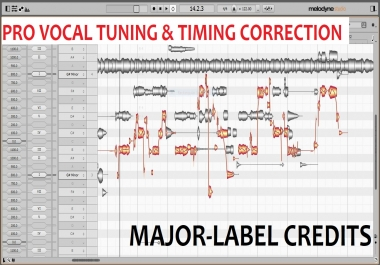 PRO VOCAL TUNING & TIMING, MAJOR-LABEL CREDITS