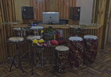 I will record two Percussion tracks in a Professional Studio for your song