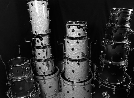 Full drumkit with percussion overdubs