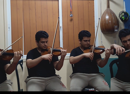 Record multi tracks of violins and violas for any music style classical,arabic,turkish,oriental,rock,.....