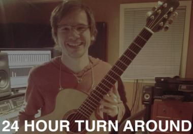 ✸24-HOUR TURN AROUND✸✸Pro Acoustic Guitar Tracks! -- FULL REFUND GAURANTEE