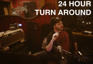 ✸24 HOUR TURN-AROUND✸✸Electric Guitar Overdubs✸ -World Class parts and tones at a tremendous value!  FULL REFUND GUARANTEE